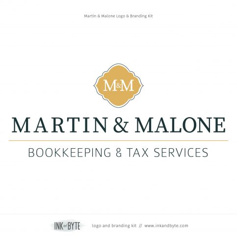 Bookkeeping, Accountant, Tax Services Logo & Branding Kit