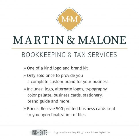 Bookkeeping, Accountant, Tax Services Logo & Branding Kit - info