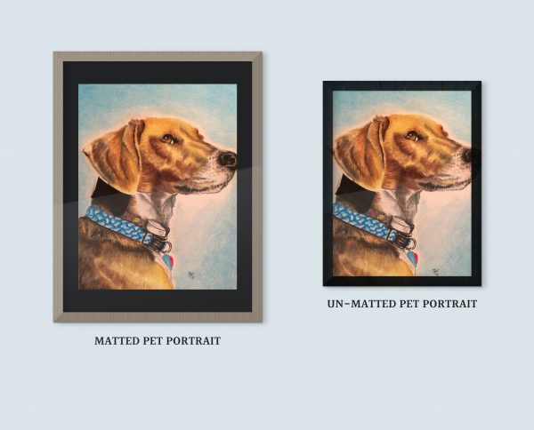 Custom Pet Portrait from your Photo. Hand Drawn on Cold-Pressed Watercolor Paper
