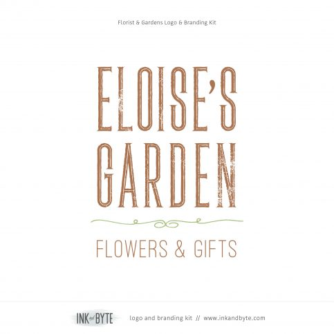 Florist Garden Center Logo & Branding Kit
