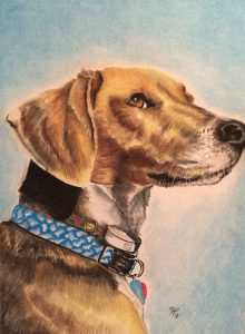Ink and Byte - Custom Pet Portrait from your Photo, 2 or more pets. Hand Drawn on Cold-Pressed Watercolor Paper - Atticus