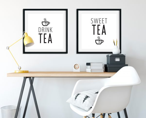 Tea Time Quotes, plus Bonus SVG files - Printable Wall Art for your home, office and anywhere else plus BONUS file for cricut, silhouette, cutting machines, screen printing and more