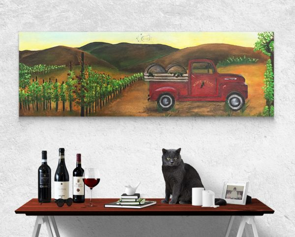 Ink and Byte - Wine Truck Panoramic Printable Wall Art for your home, office and anywhere else