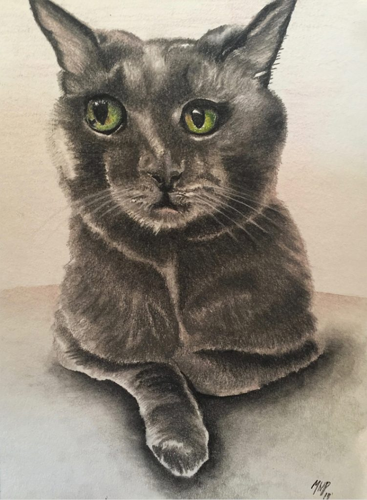 Ink and Byte - Custom Pet Portrait from your Photo, 2 or more pets. Hand Drawn on Cold-Pressed Watercolor Paper - Miami