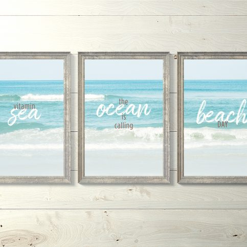 Ink and Byte - Sea, Ocean, Beach Triptych & Quotes Set Printable Wall Art for your home, office and anywhere else
