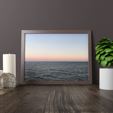 Ink and Byte - Ferry Sunset Printable Wall Art for your home, office and anywhere else