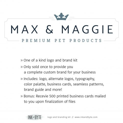 Classic Pet Business Pet Accessory Logo & Branding Kit