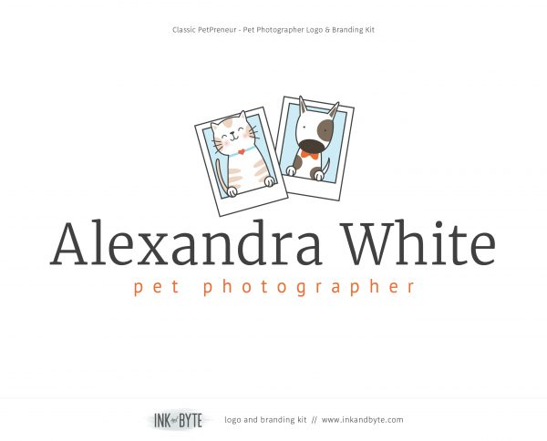 Classic Pet Business Pet Photography Logo & Branding Kit