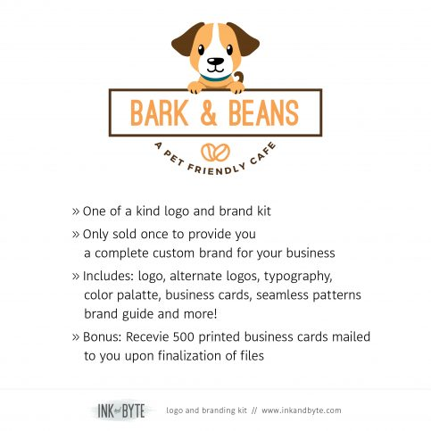 Classic Pet Business Pet Friendly Cafe Logo & Branding Kit